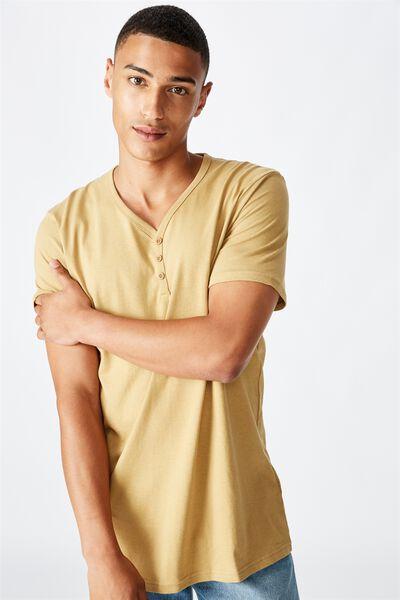 Essential Henley T-Shirt, CAMEL