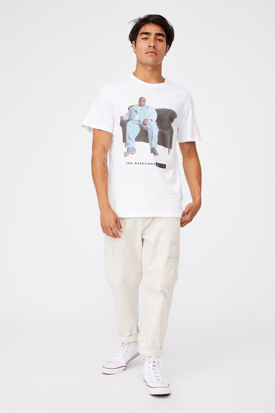Tbar Collab Music T-Shirt, LCN MT SK8 WHITE BIGGIE - COUCH