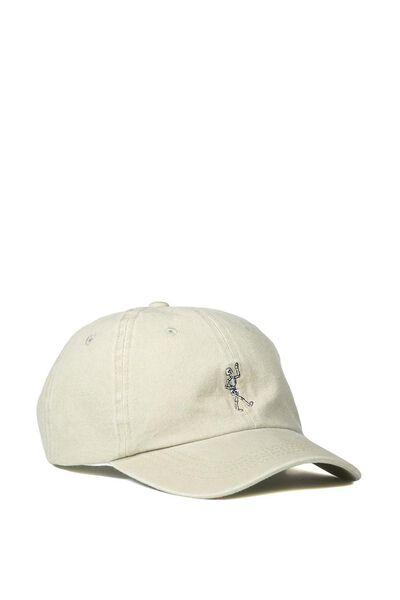 Strap Back Dad Hat, SKELLINGTON/TAUPE