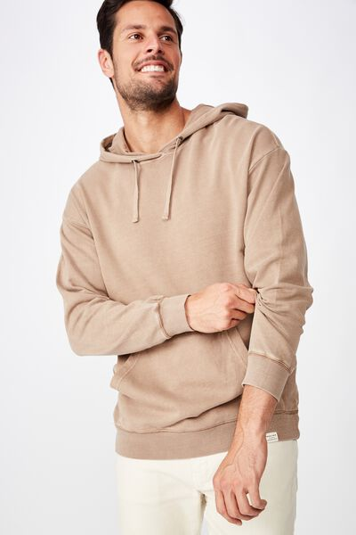 Pigment Dyed Oversized Pullover, TAUPE