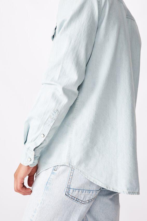 Fitzroy Denim Shirt, LIGHT BLUE