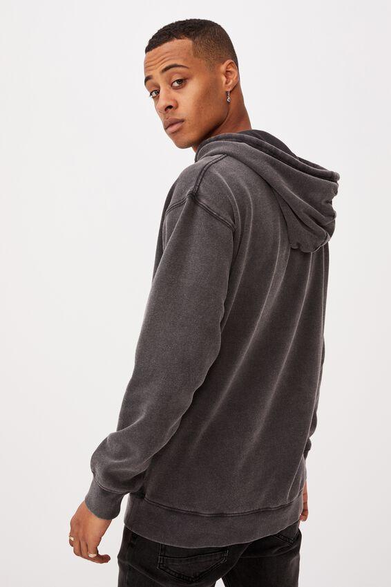 Premium Collab Fleece Pullover, LCN MIR BLACK ACID WASH/HALLOWEEN H20