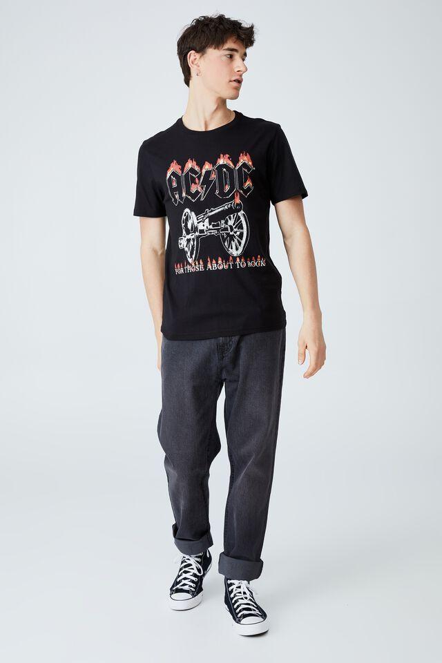 Tbar Collab Music T-Shirt, LCN PER BLACK/ACDC - CANNON