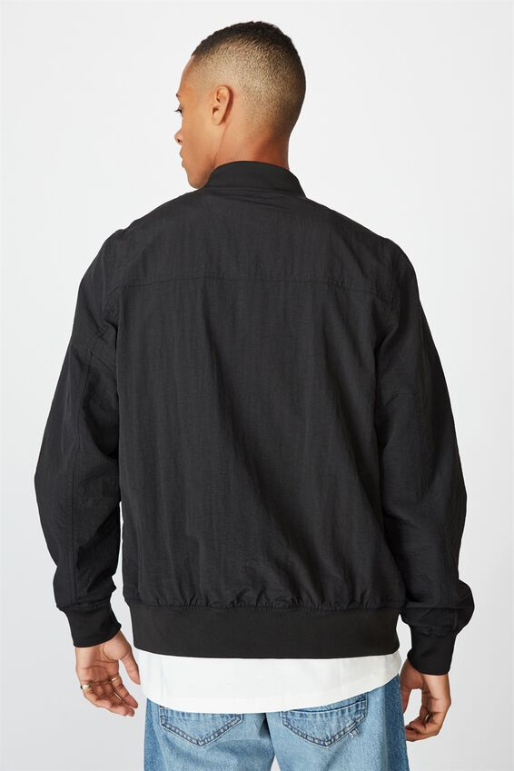 Resort Bomber Jacket, TEXTURED BLACK
