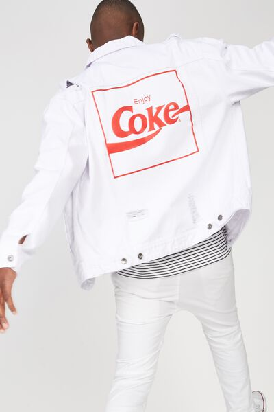 Rodeo Collaboration Jacket, COKE/WHITE