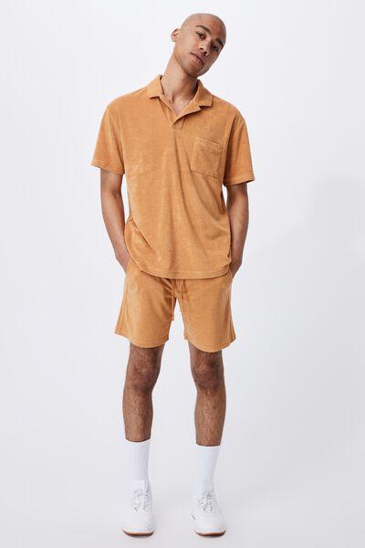 Textured Polo, BRONZE