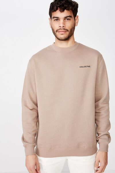 Crew Fleece 2, TAUPE/COLLECTIVE