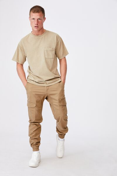 Knit Cargo Jogger, WASHED STONE
