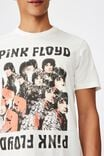 Tbar Collab Music T-Shirt, LCN PER VINTAGE WHITE PINK FLOYD - PIPER AT T