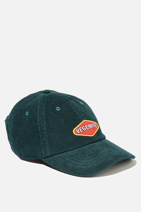 Special Edition Dad Hat, LCN VEGEMITE/BOTTLE GREEN