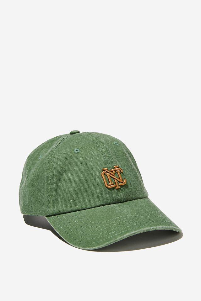Vintage Strap Back Hat, WASHED GREEN/NYC