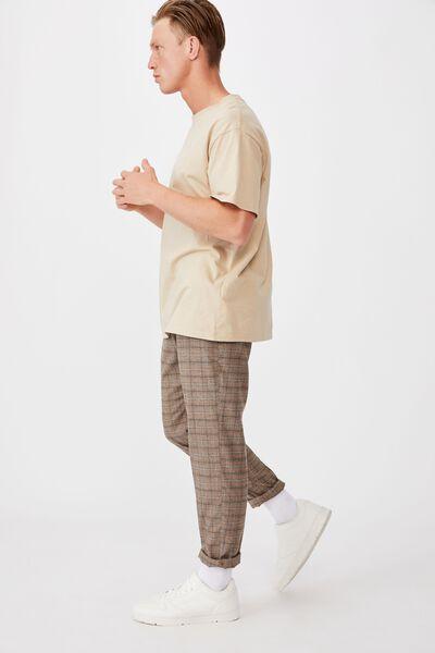 Oxford Trouser, ALMOND BROWN CHECK