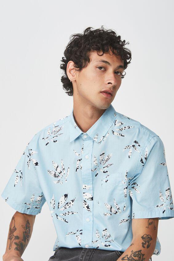 Short Sleeve Resort Shirt, INK LEAF