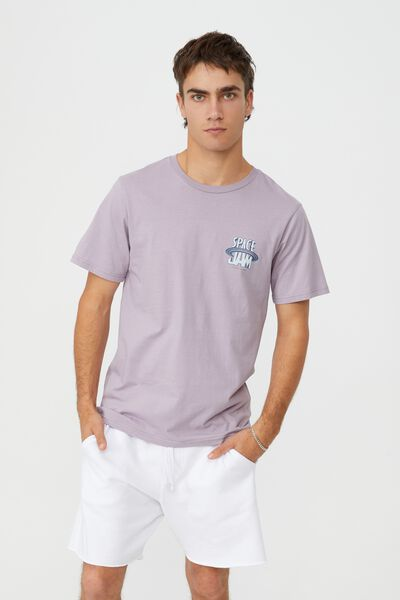 Tbar Collab Movie And Tv T-Shirt, LCN WB HAPPY LAVENDAR/SPACE JAM 2 - LOGO