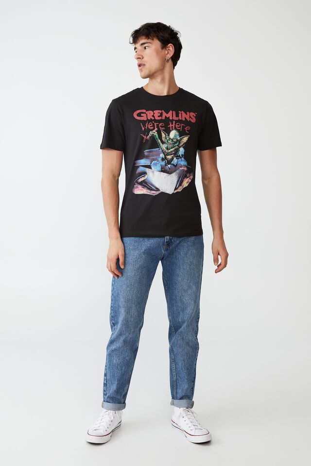 Tbar Collab Movie And Tv T-Shirt, LCN WB WASHED BLACK/GREMLINS - WE RE HERE