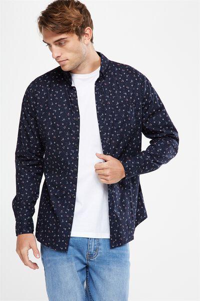Brunswick Shirt 3, NAVY DITSY FLORAL