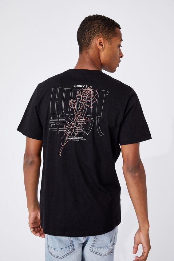 Tbar Cny T-Shirt, BLACK/HUAT 8 ROSE