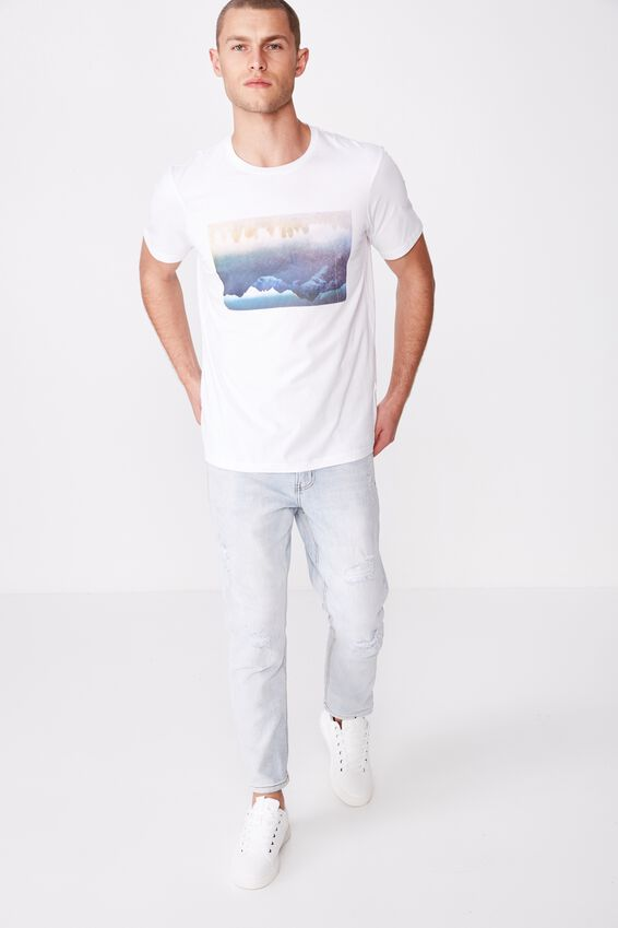 Tbar Photo T-Shirt, WHITE/MOUNTAIN REFLECTION