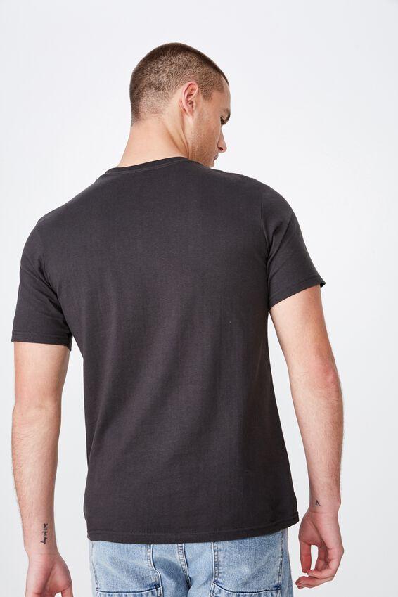 Tbar Collab Music T-Shirt, LCN LN SK8 WASHED BLACK/MISFITS - SKULL