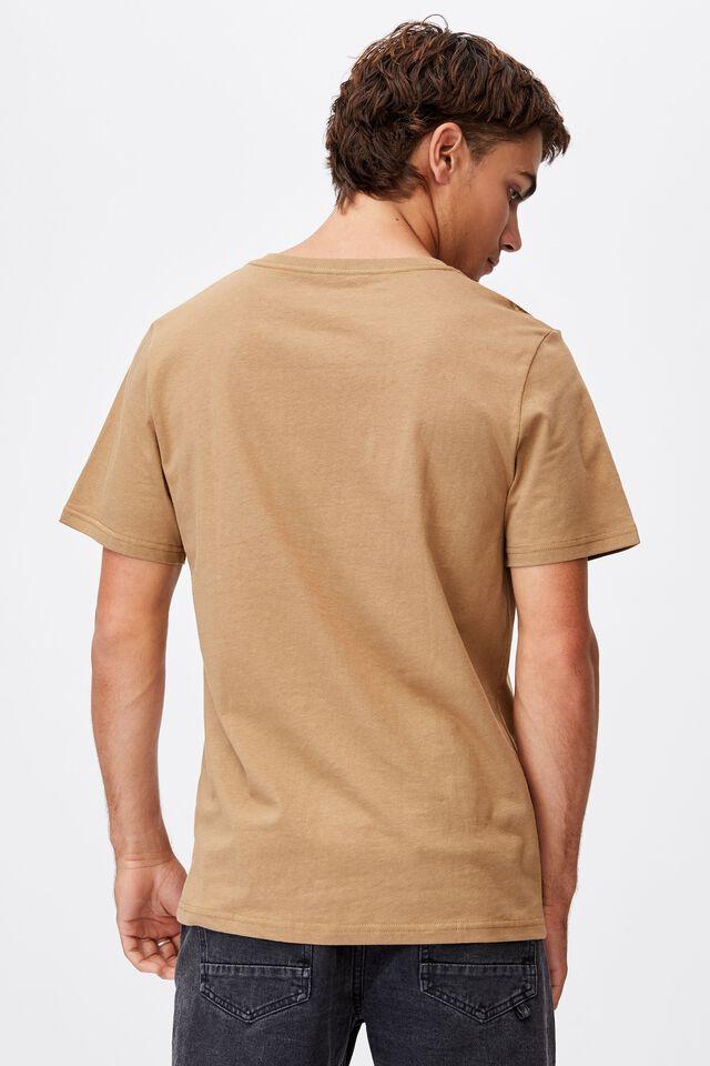 Essential Vee Neck T-Shirt, AGED CAMEL