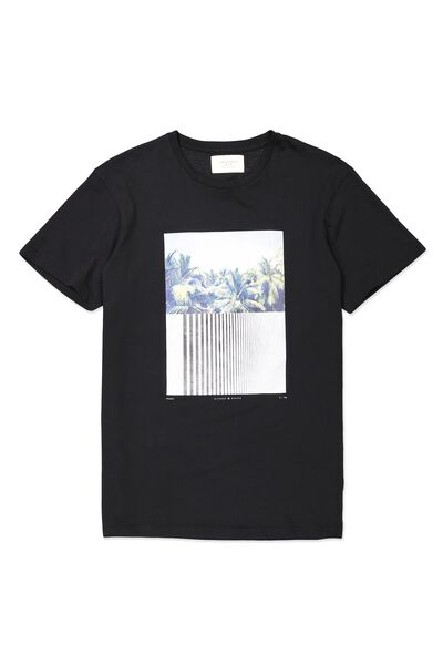 Tbar Tee, BLACK/PALM CITY SPLIT