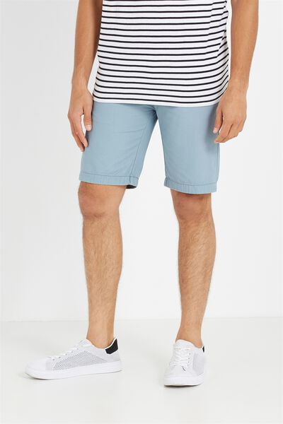 Washed Chino Short, SMOKE BLUE
