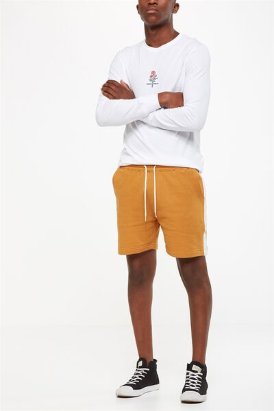 Volley Jogger Short, BISCUIT/WHITE STRIPE