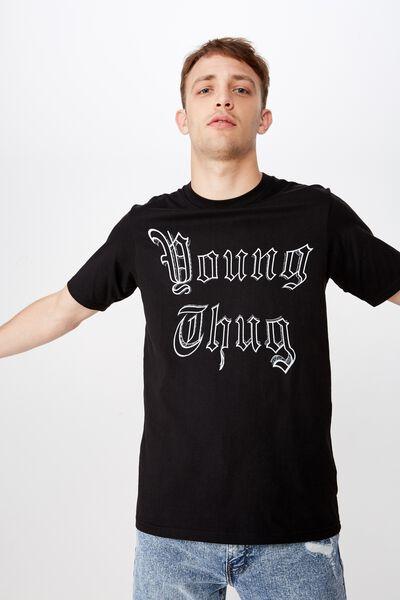 080d8fd87039 Tbar Collab Music T-Shirt, LCN MT SK8 BLACK/YOUNG THUG - GOTHIC. Cotton On  Men