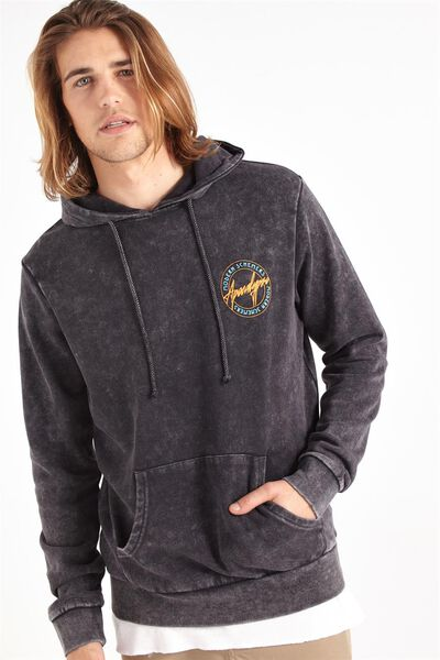 Fleece Pullover 2, BLACK/APOCALYPSO