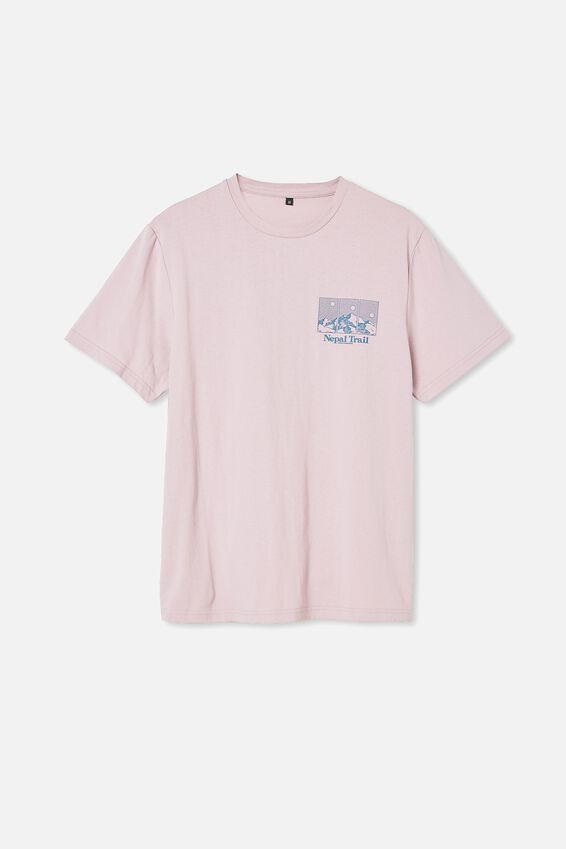 Tbar Souvenir T-Shirt, DIRTY PINK/NEPAL TRAIL
