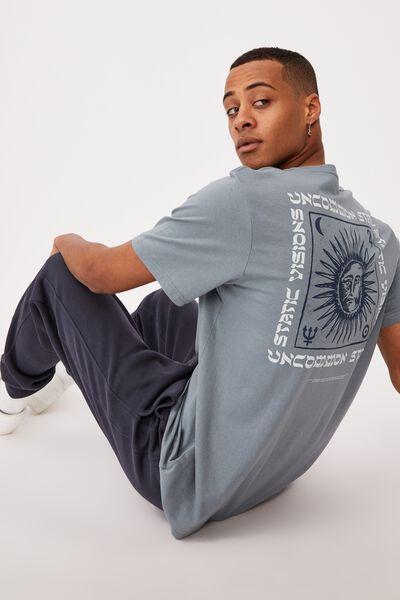 Tbar Art T-Shirt, SMOKEY TEAL/PSYCHE