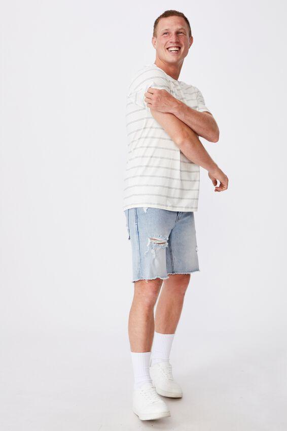 Tbar Premium T-Shirt, VINTAGE WHITE/BLACK DOUBLE SPACED