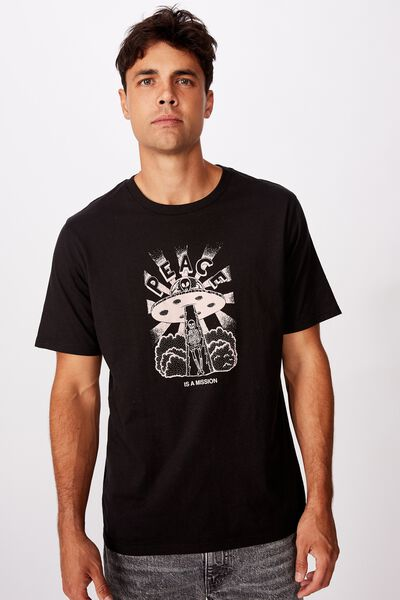 Tbar Art T-Shirt, SK8 BLACK/PEACE IS A MISSION