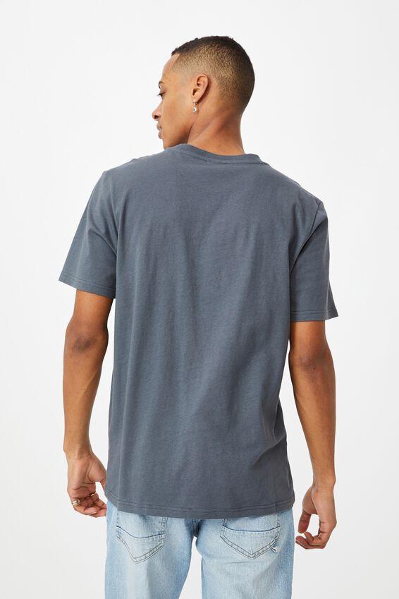 Tbar Text T-Shirt, LATE NIGHT BLUE/OSAKA TOKYO