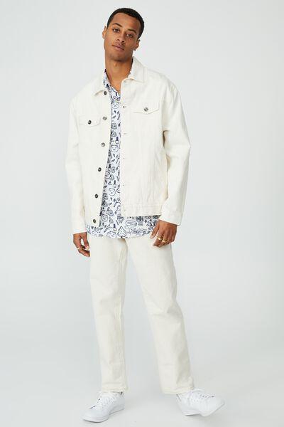 Kakao Short Sleeve Shirt, LCN KAK WHITE SKETCH