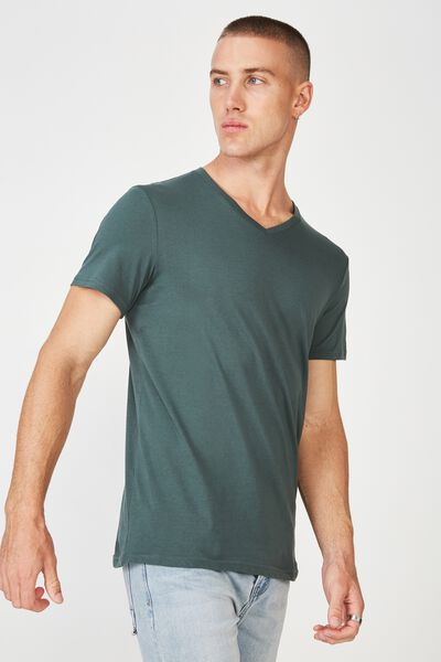 Essential Vee Neck, FROSTED KHAKI