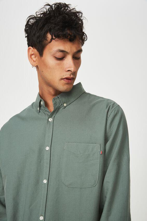 Brunswick Shirt 3, KHAKI OXFORD