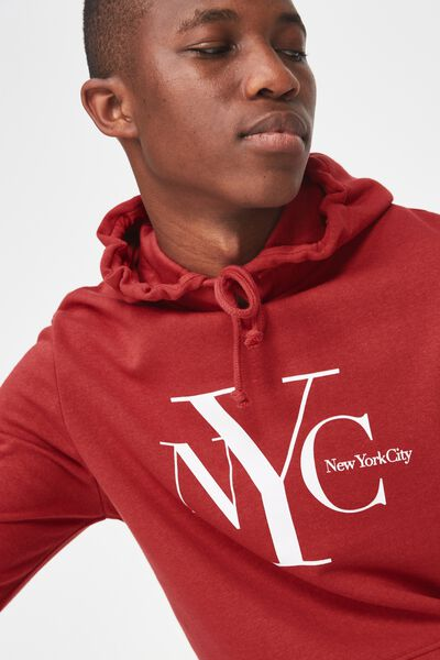 Fleece Pullover 2, RACE RED/NYC STACK