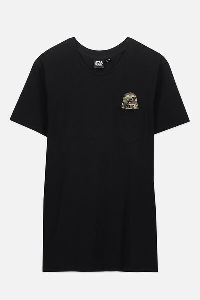 Textured Pocket Tee, LC BLACK/BLACK POCKET/CAMO DARTH