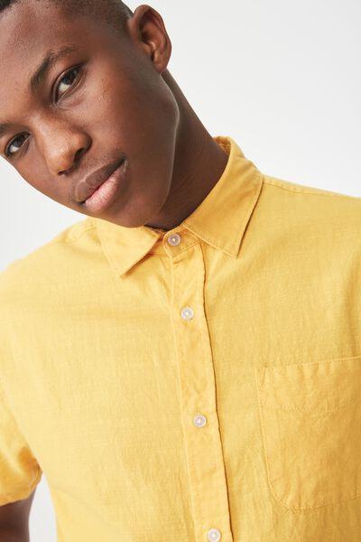 Vintage Prep Short Sleeve Shirt, MUSTARD