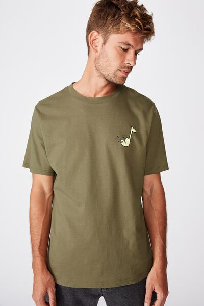 Tbar Art T-Shirt, SK8 JUNGLE KHAKI/PLAY IT COOL