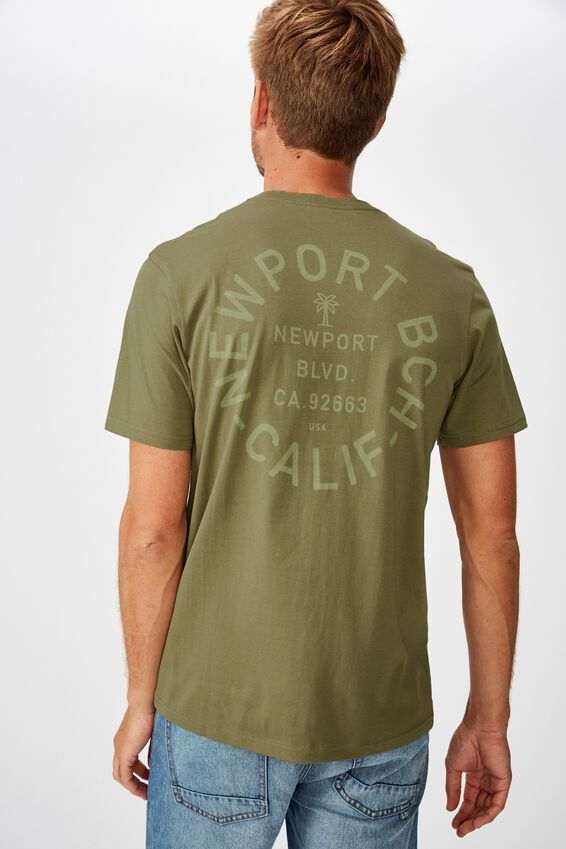 Tbar Moto T-Shirt, JUNGLE KHAKI/NEWPORT BEACH