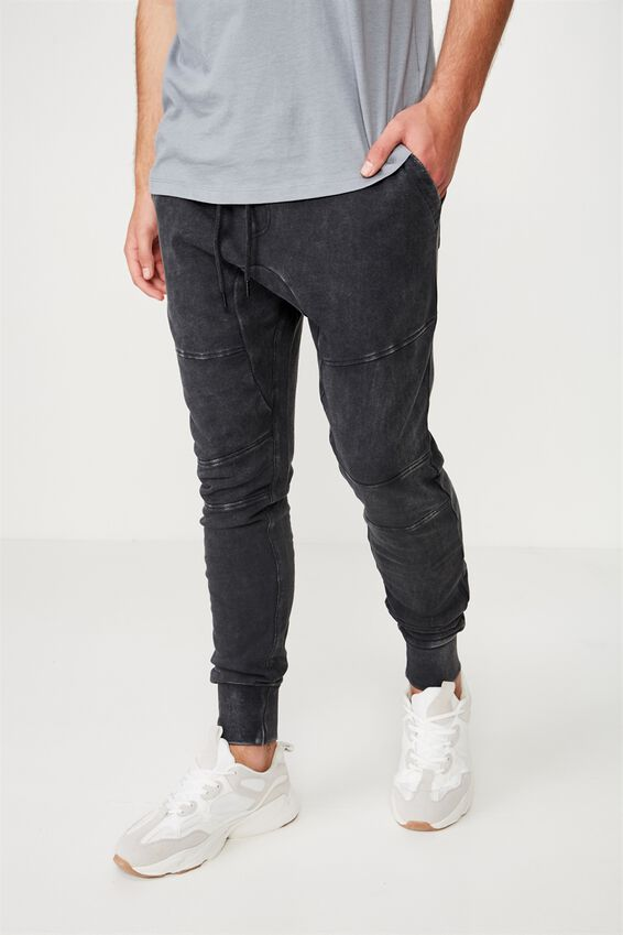 Super Skinny Trackpant, BLACK