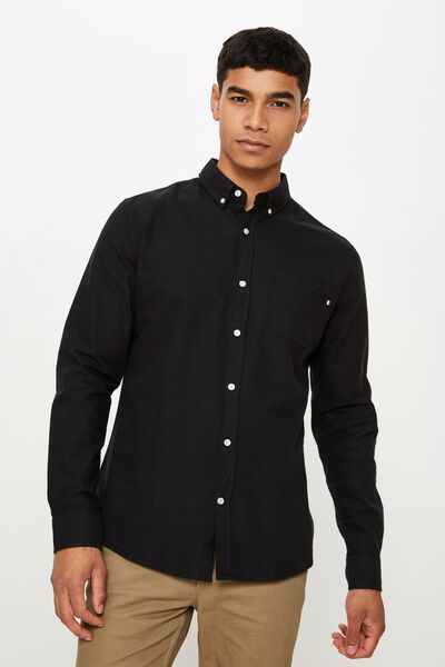 Brunswick Shirt 3, BLACK OXFORD
