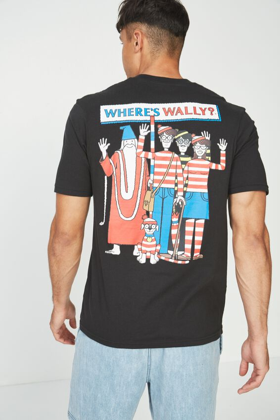 Tbar Collaboration Tee, LC SK8 WASHED BLACK/WHERES WALLY - POCKET