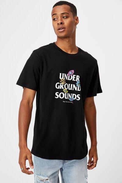 Tbar Street T-Shirt, BLACK/FLOWERS UNDERGROUND
