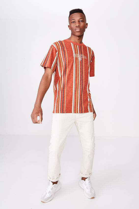 Downtown Loose Fit Tee, BRUSCHETTA RED/PEARL/LIMOGES BLUE/NUGGET GOLD/NY B