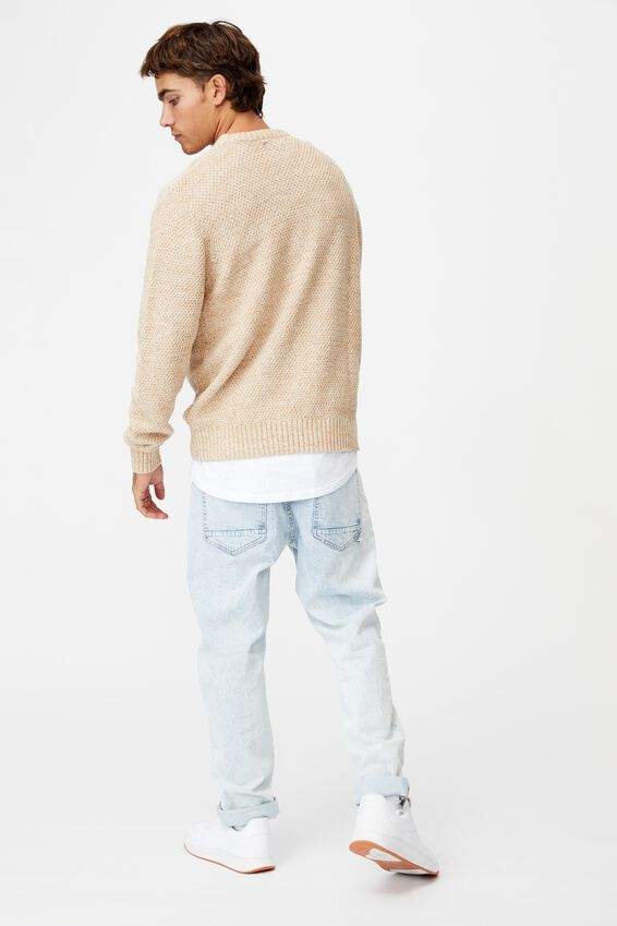 Crew Knit, TEXTURED NATURAL