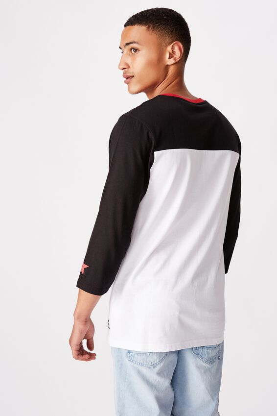 Tbar 3/4 Baseball Tee, BLACK/WHITE/LOS ANGELES 60