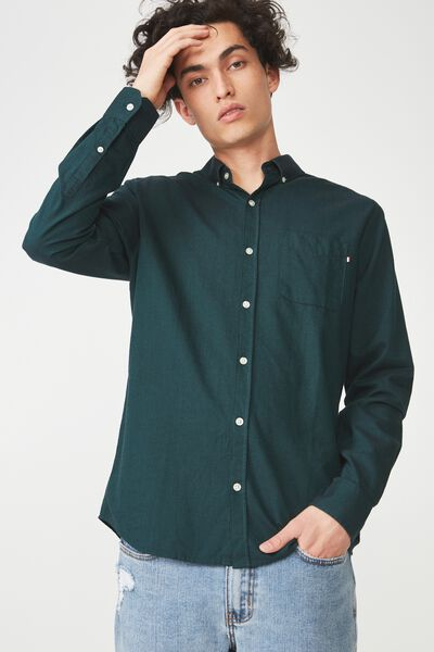 Brunswick Shirt 3, BOTTLE GREEN OXFORD